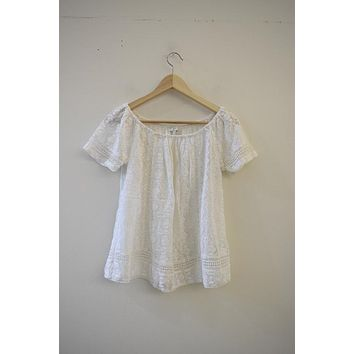 Joie Sheer Crochet Blouse