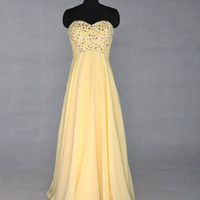 2013 Style Trumpet / Mermaid Sweetheart Beading Sleeveless Floor-length chiffon Prom Dresses / Evening Dresses