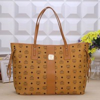 MCM Women Leather Handbag Tote Shoulder Bag Clutch Bag Crossbody