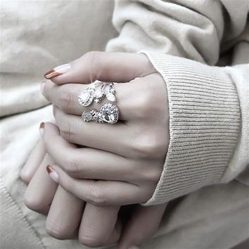 The First lady, A Perfect 9TCW Russian Lab Diamond Open Style Ring