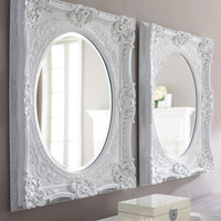 White Baroque Mirror - Horchow