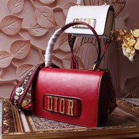 DIOR WOMEN'S 2018 NEW STYLE LEATHER HANDBAG INCLINED SHOULDER BAG