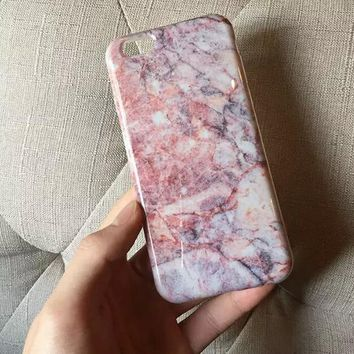 Unique Pink Marble iPhone 6 6s Plus Case Gift-132-170928