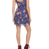 Blue Floral Lace Dress | Hot Topic