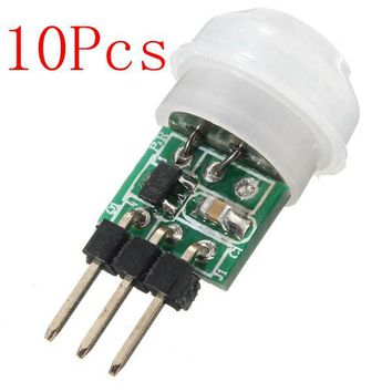 10Pcs Mini IR Infrared Pyroelectric PIR Body Motion Human Sensor Detector Module