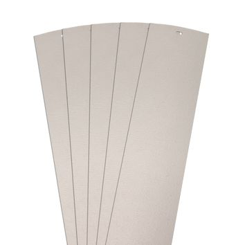 DALIX Chaparral Replacement Blinds Vertical Window Slats Panel Ivory 5 Pack