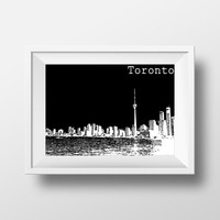 Skyline Poster - Skyline Photograph - Toronto Skyline - Canada Art - Photography - Wall Art - Home Decor - Black And White Photograph
