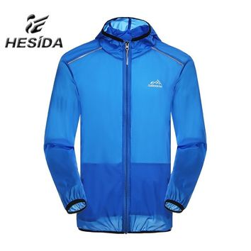 Men Outdoor Windbreaker Jacket Hiking Sport Splashproof Ultra Light Male Coat Trekking Camping Sun UV Protection Quick Dry Hoody