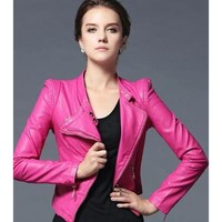 Leather Jacket Women  Motorcycle Biker jacket