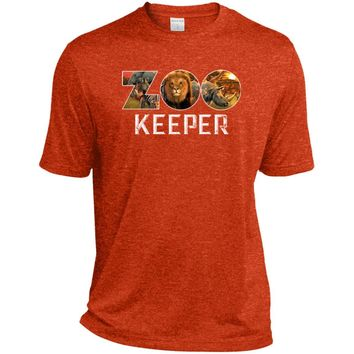 Zookeeper African Savanna Animal Print ST360 Sport-Tek Heather Dri-Fit Moisture-Wicking T-Shirt