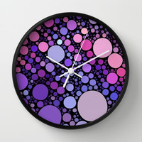 cool dots-orchid Wall Clock by Sylvia Cook Photography