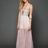 Free People Raw Tulle Maxi Slip