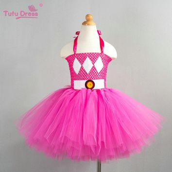 Cute Cartoon Girl Dress Lovely Cosplay Tutu Dress Halloween Costume Kids Tutu Dr