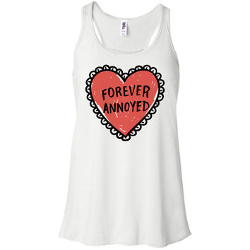 Forever Annoyed Heart Racerback Tank Top