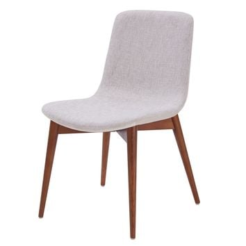 Perry Fabric Dining Chair Raindrop Beige (Set of 2)