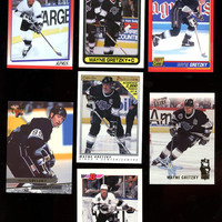 WAYNE GRETZKY VINTAGE Hockey cards lot of 7 cards 1990-1993 Topps,Bowman,O-Pee-Chee  Premier ,Fleer-Ultra , Score, Free Shipping