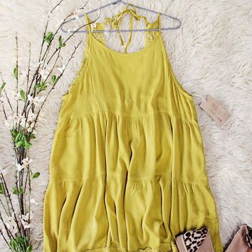 Dusty Mustard + Lace Dress