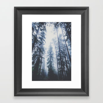 The mighty pines Framed Art Print by happymelvin