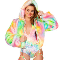 Rainbow Sherbet Light-Up Cropped Jacket