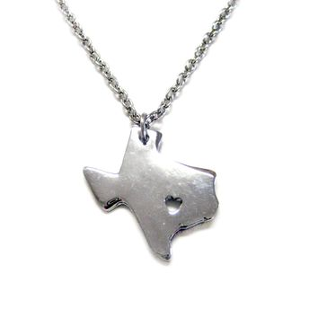 Texas Map Pendant Necklace