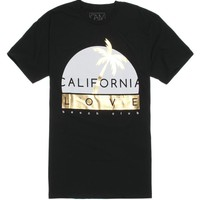 California Love Gold Palm Cali T-Shirt - Mens Tee - Black