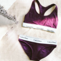 "Fashion ""Calvin Klein"" Tank Top Shorts Underwear Lingerie Set Bikini Swimwear Purple"