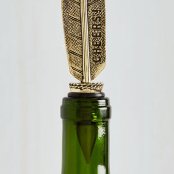 Sayings Flow and Arrow Wine Stopper by ModCloth
