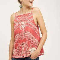 Vanessa Virginia Terracotta Tank in Dark Orange Size: