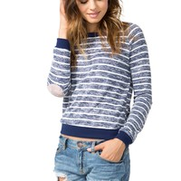 Casual Friday Stripe Sweatshirt