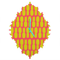 Allyson Johnson Neon Pineapples Baroque Clock