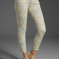 Free People Ethnic Printed Cropped Skinny Jean in Ivory Ikat from REVOLVEclothing.com