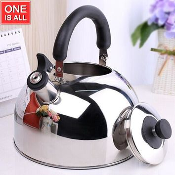 5L 304 Stainless Steel Whistling Water Po Tea Kettle Water Pot Coffee Pot Boil Water Teapot Coffee Kettles Kitchen Water POT