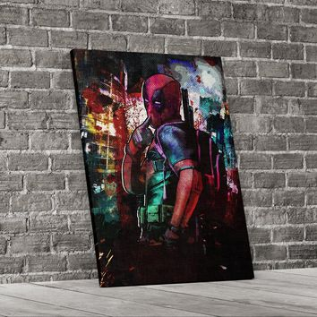 Deadpool Inspired Abstract Canvas Wall Art