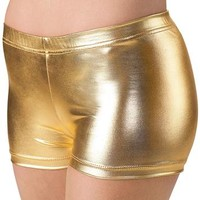 Longer-Length Metallic Dance Shorts; Balera
