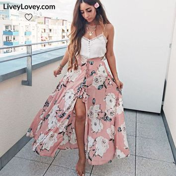 Pretty in Pink - Floral Summer Skirt