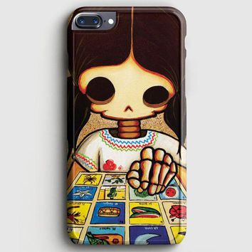 Day Of The Dead Skeleton Girl iPhone 8 Plus Case | casescraft