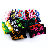 40 Colors Men/Women Plantlife Marijuana Weed Leaf Cotton High Socks Dress Socks