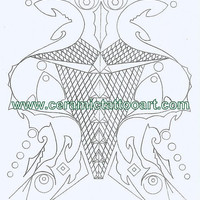 Neo Tribal Tattoo Flash Inspired Coloring Book