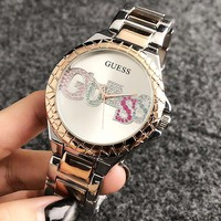 GUESS 2018 men and women models tide brand fashion simple waterproof quartz watch F-Fushida-8899 1