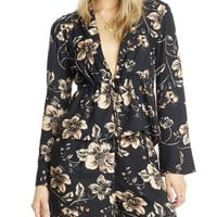 Mae Cropped Tie-Front Jacket