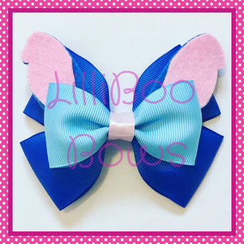 Handmade Stitch Lilo and Stitch Inspired Hair Bow
