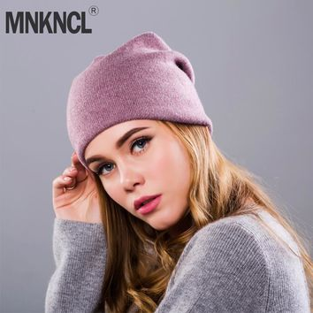 2017 New Women's Winter Hat Knitted Wool Beanie Female Fashion Skullies Casual Outdoor Mask Ski Caps Thick Warm Hats for Women
