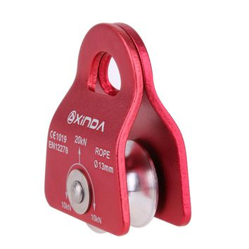 Hiking Climbing Rope Pulley Single Fixed Pulley Mountaineering