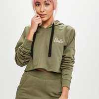 Missguided - Barbie x Missguided Khaki Long Sleeve Crop Top