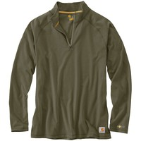Carhartt Force Cotton Delmont Quarter Zip Shirt - Men's