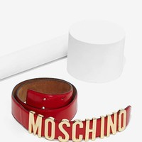 Vintage Moschino Leather Belt