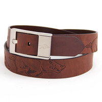 Arkansas Razorbacks NCAA Brandish Leather Belt Size 34