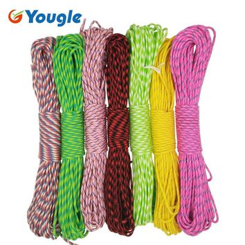 YOUGLE 550 Popular Type III 7 Strand Parachute Paracord Cord Lanyard Mil Spec Core For hunting Paracord 550lb 100FT 88-94