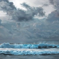 Giant Pastel Oceanscapes and Icebergs Drawn by Zaria Forman