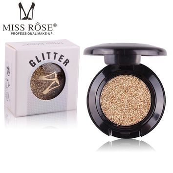 Brand MISS ROSE eyes make up 24 single colors glitter eye shadow professional eyeshadow palette maquiagem